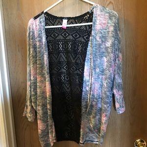 4/$25 No Boundaries short sleeve cardigan